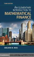 An Elementary Introduction to Mathematical Finance, Third Edition