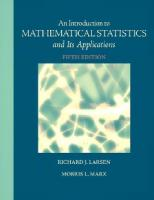 An Introduction to Mathematical Statistics and Its Applications, 5th Edition