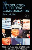 An Introduction to Political Communication, 3rd Edition (Communication and Society)