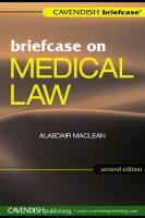 Briefcase on Medical Law 2 e (Briefcase)