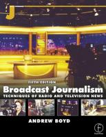 Broadcast Journalism, Fifth Edition