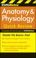 CliffsNotes Anatomy and Physiology Quick Review (Cliffsnotes Quick Review)