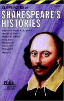 Cliffsnotes Shakespeare's Histories