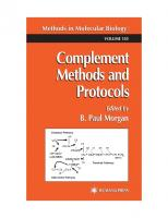 Complement Methods and Protocols (Methods in Molecular Biology Vol 150)