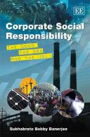 Corporate social responsibility : the good, the bad and the ugly