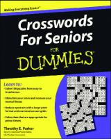 Crosswords for Seniors For Dummies (For Dummies (Sports & Hobbies))