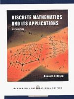 Discrete Mathematics and Its Applications, 6th Edition