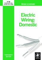 Electric Wiring: Domestic, 13th Edition