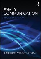 Family Communication (Routledge Communication Series)