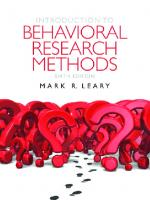 Introduction to Behavioral Research Methods (6th ed.)