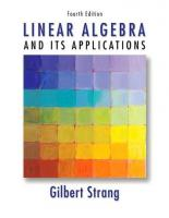 Linear Algebra and Its Applications (4ed)