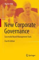 New Corporate Governance: Successful Board Management Tools, 4th Edition