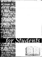 Novels for Students Volume 1