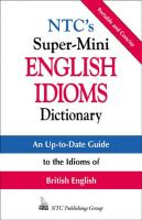 NTC's Super-Mini English Idioms Dictionary