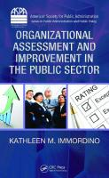 Organizational Assessment and Improvement in the Public Sector (American Society for Public Administration Series in Public Administration and Public Policy)