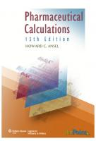 Pharmaceutical Calculations, 13th Edition