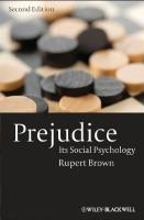 Prejudice: Its Social Psychology (2nd edition)