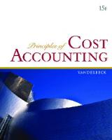 Principles of Cost Accounting, 15th Edition