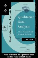 Qualitative Data Analysis: A User-friendly Guide for Social Scientists