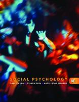 Social Psychology, 8th Edition