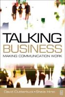 Talking Business: Making Communication Work