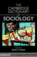 The Cambridge Dictionary of Sociology