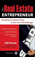 The Real Estate Entrepreneur: Everything You Need to Know to Grow Your Own Brokerage