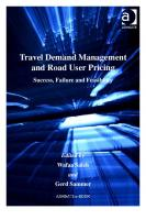 Travel Demand Management and Road User Pricing (Transport and Mobility)